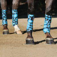 Blue/aqua polo wraps