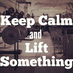 Lift something heavy.