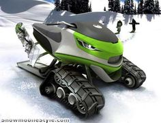 Snowmobile Design...Id look forward to flakes falling if I had this.