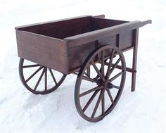 Amish Peddler's Cart A unique and pretty rustic accent, a Peddler's Cart can hold lovely flowers, an herb garden, holiday gifts and much more. #outdoordecor #carts #rustic