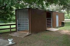 Use an old shipping container for stalls! #containerhome #shippingcontainer