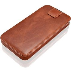 KAVAJ iPhone 7 6S 6 47 Inch leather case cover Miami cognac brown  genuine leather with business card compartment Slim etui case as premium accessory for the original Apple iPhone doubles as a wallet -- Check out the image by visiting the link. (Note:Amazon affiliate link)