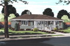 House Plan 32323 | Bungalow Cottage Country Plan with 1200 Sq. Ft., 2 Bedrooms, 2 Bathrooms at family home plans