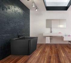 Saga badekar i svart matt kompositt Saga, Bathtub, Bathroom, Home Decor, Standing Bath, Washroom, Bathtubs, Decoration Home, Room Decor