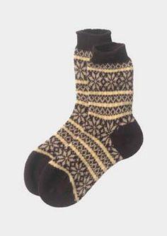 CASHMERE FAIR ISLE SOCK Crochet Socks a16f9007ef