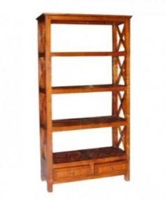 Bookshelf cross 2 drawer