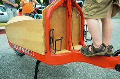 Bullitt Cargo Bike, Bike Pedals, Tandem, Baby Strollers, Two By Two, Biking, Trailers, School, Box
