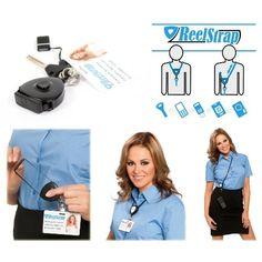 Reelstrap - Sehr viel praktischer als normales schlüsselbänder oder jojo kartenhalter lanyard ausweis jojo - Reelstrap ist praktische ausweishülle ausweishalter