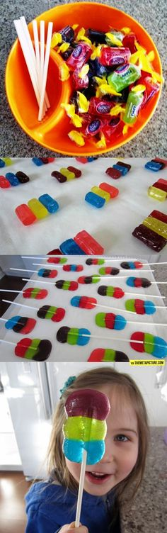 Make Your Own Lollipop How great does this look!!!!Great for kids parties!!