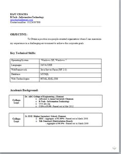 Resume Objectives For Freshers Leadership Position  Resume Templates  Pinterest  Resume Examples .