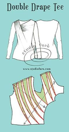fang fang works prepare for the spring and summer skirts - PIPicStatsDIY Womens Clothing : Gathered and Tucked Necklinerecut a slope to achieve drape Sewing Patterns Free, Sewing Tutorials, Clothing Patterns, Techniques Couture, Sewing Techniques, Kleidung Design, Pattern Draping, Sewing Blouses, Modelista
