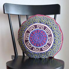 Ravelry: Labyrinth Mandala Pillow pattern by Tatsiana Kupryianchyk