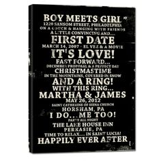 Know someone getting married??? Boy Meets Girl - Happliy Ever After Word Art Signs -- perfect for the bride and groom
