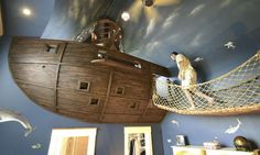 27 idées originales pour rendre votre maison absolument exceptionnelle : La chambre pour enfants façon bateau de pirates