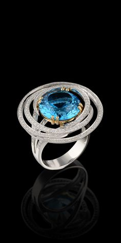 9.55 cts of Topaz and Diamonds  from the Solo Collection