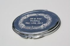 Engraved Mirror Compact Bridesmaid Gift Wedding Engrave Your Own Photo and Text New. $10.99, via Etsy.