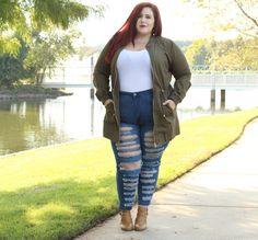 Plus Size Fall Utility Jacket Look