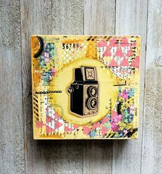 Love this quirky and vintage themed canvas. Available at our Etsy shop 💛