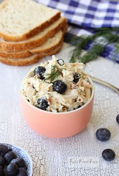 Picnic Chicken Salad with Blueberries and Pecans | fakefoodfree.com