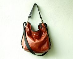 MID HOBO PACK     'three in one'  leather by roughandtumblebags, $218.00 Hobo, cross body, and backpack in one.  Love!