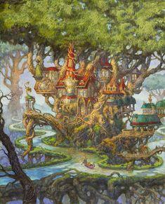 New Fantasy Landscape Kingdom Animation 40 Ideas Fantasy City, Fantasy Castle, Fantasy House, Fantasy Places, Fantasy Map, Fantasy World, Fantasy Art Landscapes, Fantasy Landscape, Landscape Art