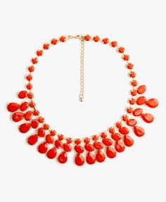 Faceted Faux Stone Necklace | FOREVER21 - 1021400119