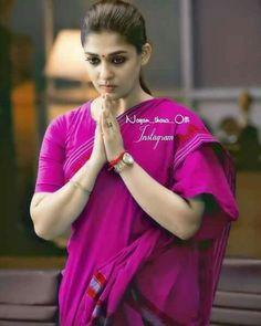 Nayanthara In Saree, Nayanthara Hairstyle, Most Beautiful Indian Actress, Most Beautiful Women, Nayantara Hot, Stylish Blouse Design, Elegant Saree, Malayalam Actress, Indian Beauty Saree