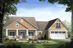 Craftsman Style House Plan - 3 Beds 2 Baths 1800 Sq/Ft Plan #21-247 Exterior - Front Elevation - Houseplans.com