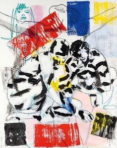 LUCIANO CASTELLI1951Zebras. 1989.Oil on canvas.
