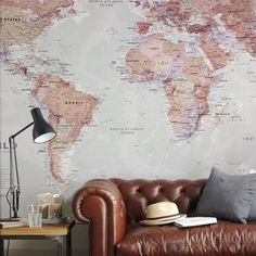 map wallpaper - it would be so fun to stick pins in this to show where I've been