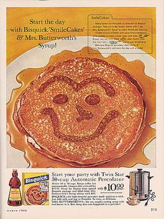 Bisquick and Mrs. Butterworth 1963 vintage ad