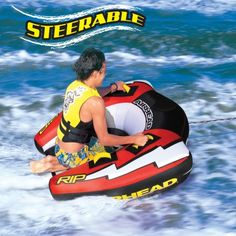 Airhead Rip II Water Tube - While manufacturing equipment for enjoyment, the Airhead products ensure safety and durability as well. The Airhead Rip II Water Tube is specially. Sports Nautiques, Water Sports, Boat Tubes, Lake Toys, Small Beach Houses, Water Tube, Like A Rock, Boat Covers, Art Activities