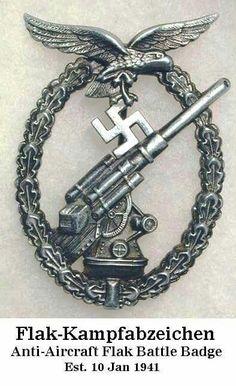 Anticrak Flak Badge - III Reich