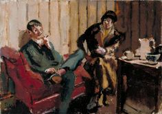 Walter Richard Sickert 1860–1942 The Little Tea Party: Nina Hamnett and Roald Kristian 1915–16
