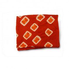 Women's Silk Scarf in Orange