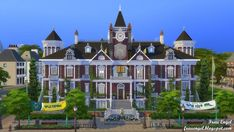 Frau Engel – Britchester University for The Sims 4 Best Sims, My Sims, Sims Building, Building Ideas, Minecraft Mansion, The Sims 4 Lots, Casas The Sims 4, Sims Four, Arquitetura