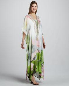 Camilla Springtime Love Printed Caftan - Neiman Marcus