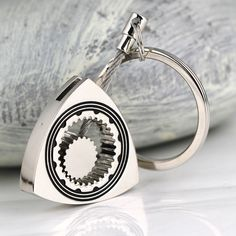 Rotary Rotor Keychain Polished Silver Auto Part Triangle Wankel Engine Keyring Trinket Chains Keyfob Car Styling Decoration Rotary, Leather Passport Wallet, Leather Keychain, Unusual Gifts, Key Fobs, Novelty Gifts, Gifts For Father, Key Rings, Keychains