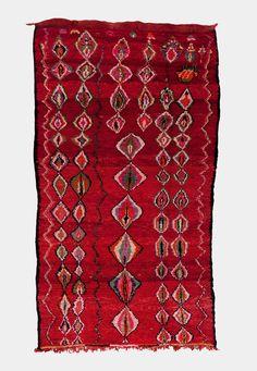 Moroccan Berber Bouzhad Tribal rug.