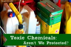 Toxic Chemicals - Are We Protected via @Ben Carter #greenliving