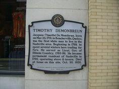 Jacques timothy de monbrien | Timothy Demonbreun - HCMN # 44 - Tennessee Historical Markers on ... grandpa