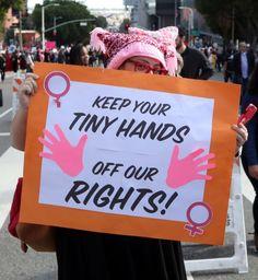 Hände weg von den Frauenrechten hieß es in Los Angeles.