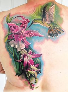 Birds tattoo by Andre Zechmann Dream Tattoos, Mom Tattoos, Body Art Tattoos, Tatoos, Sick Tattoo, Tattoo You, Hummingbird Flower Tattoos, Shoulder Tattoos, Tattoos Gallery
