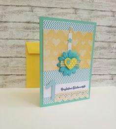 Glückwunschkarten - 1. GEBURTSTAG Karte KERZE & HÄKELBAND &... - ein Designerstück von POMMPLA bei DaWanda