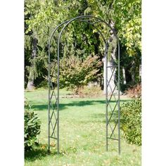 Lattice Arbor I by Minuteman International. $209.99. Ivory powder-coated finish. Sturdy wrought iron construction. Easy slip-in components; no tools necessary. Great ideal for growing climbing vines and greenery. Dimensions: 21L x 41W x 92H inches. Welcome guests with the Lattice Arbor I, made exceptionally beautiful with climbing roses or clematis. Includes display feet for use indoors, for weddings or events, or on hard surfaces. Graphite powder-coated finish.Ab...