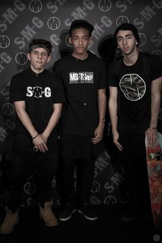 Moises, Jaden and Mateo Arias repping msfts (okay, that is not moises's best face haha)