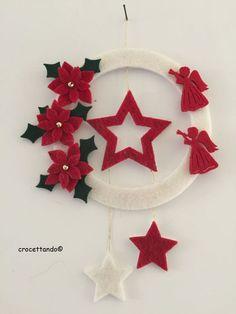 Dress it up. Diy Christmas Garland, Christmas Bird, Felt Christmas Ornaments, Easy Christmas Crafts, Christmas Colors, Simple Christmas, Handmade Christmas, Vintage Christmas, Ornament Crafts