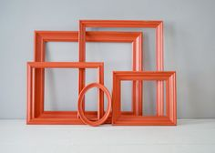Distressed Frames - Coral