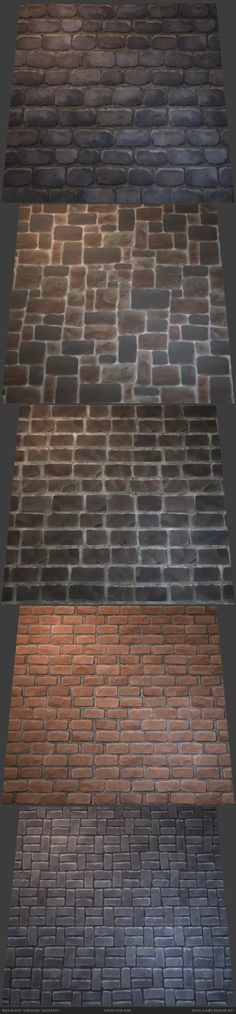 Handpainted stylized bricks textures. Available on sale on the Unity Asset Store