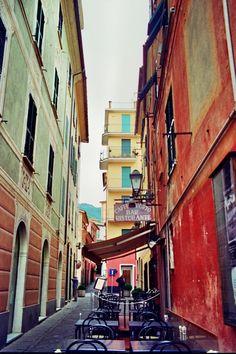 | ♕ | Backstreet cafe in Santa Margherita, Italy | by © almasic